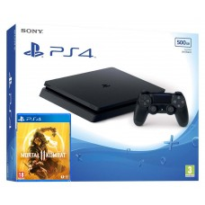 PlayStation 4 SLIM Bundle (500 Gb, Mortal Kombat 11), 222132, Консоли